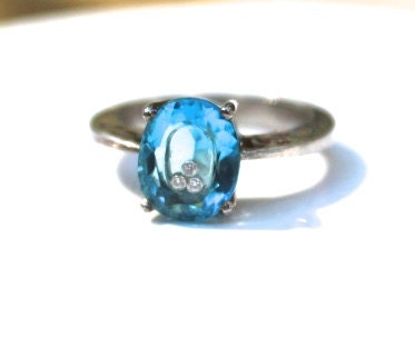 15 code mermaid engagement ring 3 cts blue topaz