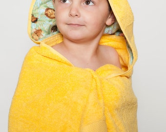 Personalized hooded baby towel, baby bath towel, kids hooded bath towel, hooded baby towel, jungle towel, personalized bath towel