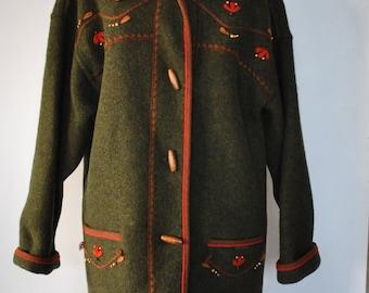 Vintage GIESSWEIN HANDMADE pure wool hooded jacket ......