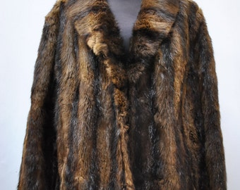 Vintage MINK FUR COAT , Vendome Paris full  length fur coat , luxurious mink coat ....(023)