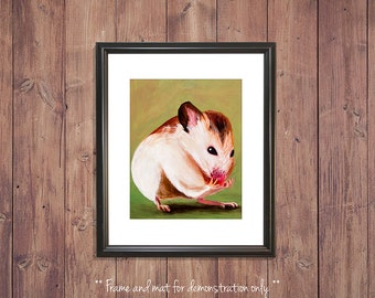 Mouse Print from Original Oil Painting, 4x5, 8x10