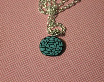 Polymer Clay Marbled Pendant Necklace