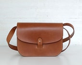 TILIA - Leather purse / Leather pouch / Small messenger bag / Leather satchel