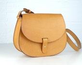 LEONORUS leather purse /crossbody bag / classic handmade statchel / handbag /