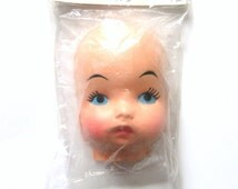 Vintage Doll Face, Fibre Craft Supply, Doll making Supplies, Plastic Doll Face