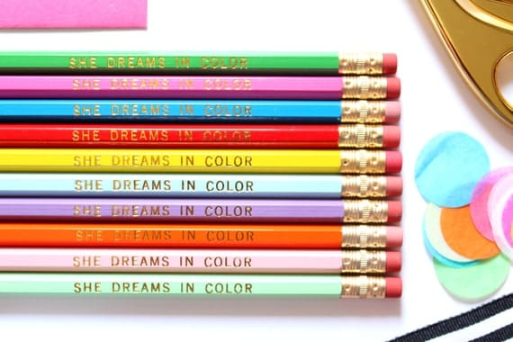 She Dreams in Color Pencils
