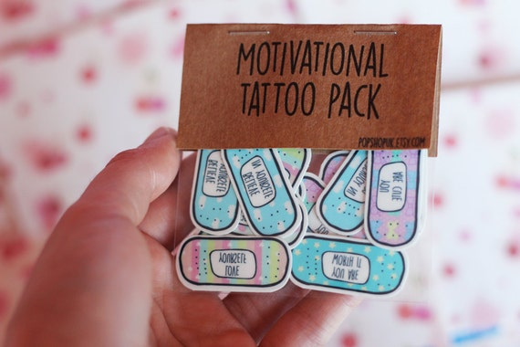 Valentines gift motivational band aid tattoos cute for Band aid tattoo