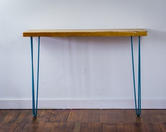 Hairpin Leg Entry/Buffet/Console Table with Reclaimed Wood Top