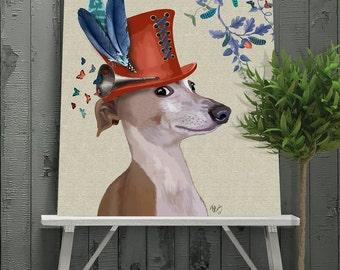 Greyhound gift print - Milliners Dog - Greyhound art Greyhound print Greyhound lover Greyhound gift Greyhound wall art greyhound hat