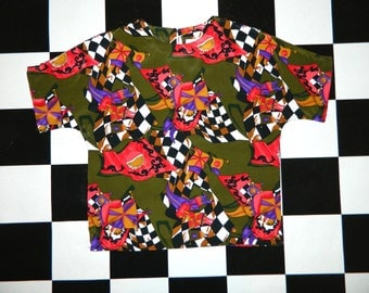 Vintage Abstract Blouse...