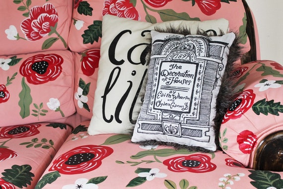 The Decoration of Houses by Edith Wharton | Bookish Throw Pillow
