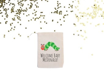 Hungry Caterpillar {set of 10}Personalized Baby Shower Favor Bags