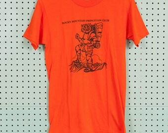 90s Vintage Rocky Mountain Princeton Club Stedman T Shirt Size M