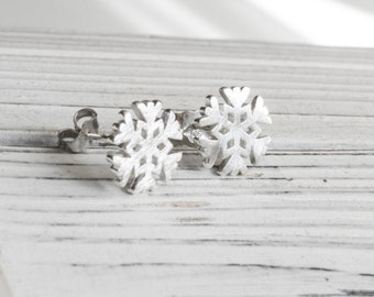 Snow flakes earrings - 925 Sterling Silver Edition