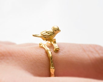 Bird ring gold
