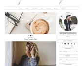 "Responsive Wordpress Theme ""Writers Dream"" //  Photography Slider Instant Digital Download Premade Blog Theme Design"