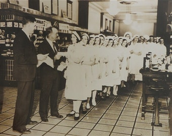 "Payday - 1930's Soda Fountain Department Store Waitresses Get Paid 10"" x 8"" Photo - Free Shipping"