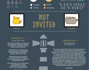 Wedding Program Infographic | Custom