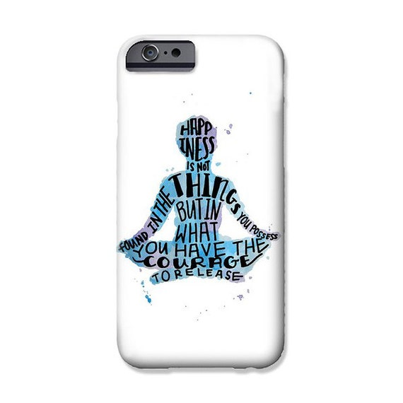 Yoga Quotes Cell Phone Case iPhone Samsung Galaxy Case - Art Phone Case Meditation Phone Case Quotes Phone Case Cell Phone Covers