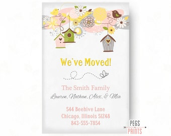 Moving Announcement Printable -  Moving Cards - New Home Announcement