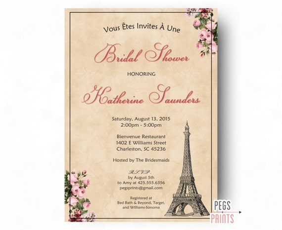 Paris bridal shower invitation printable parisian bridal shower il570xn filmwisefo
