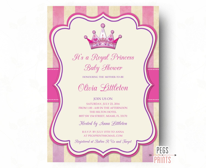 royal princess baby shower invitation printable princess