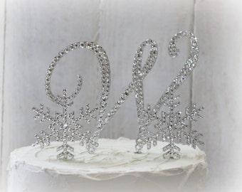 Snowflake Wedding Cake Topper Winter Wedding Winter