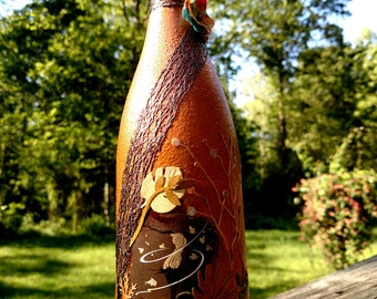 Upcycled wine bottle - Elegance in Nature