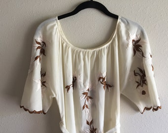 Gorgeous Scalloped Sleeve Boho Embroidered Maxi Dress