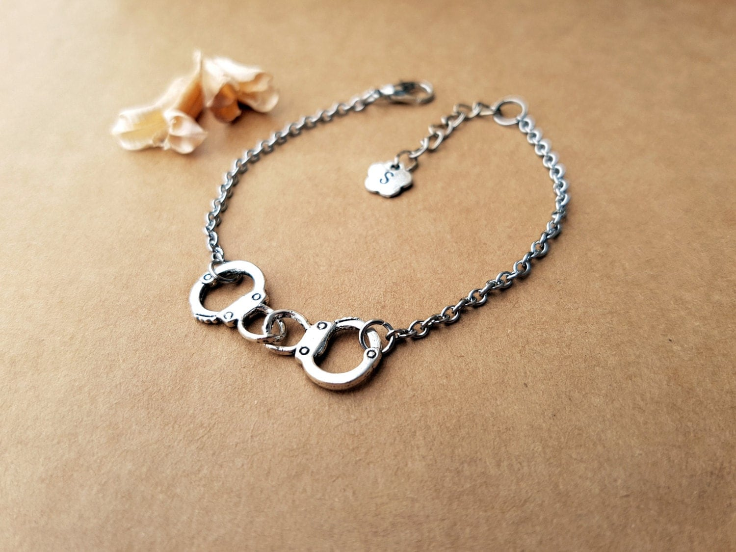 handcuffs bracelet partners in crime by achicfairytale on etsy