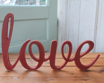 Rustic LOVE sign CUSTOMIZE your own WORD wedding decor farmhouse photo wall sign
