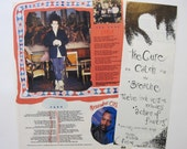 The Cure Robert Smith Catch lyrics & pin up image 1987 magazine clipping