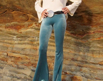 VELVET 70'S velour fashion hippie chic boho dance yoga festival burning man gypsy bell bottom flares