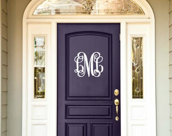 Monogrammed Door Hanger | Personalized 3-Initial Solid Wood Monogram