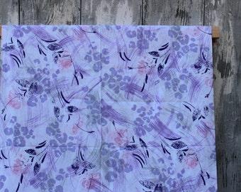 Cotton fabric 80s unused fabric deadstock NOS dress fabric deco fabric  new old stock print fabric