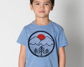 Pacific northwest BABY and toddler Tshirt. PAC NW shirt. Northwest kids shirt.