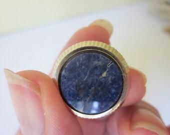 Lapis Lazuli Cufflinks, Vintage