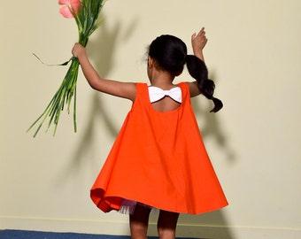 kids sewing pattern pdf/ girl's  dress with ribbon/ baby sewing pattern/ children clothing/Toddler sewing pattern/12M-5years