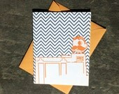 Natty Boh Tower, Baltimore Letterpress Card: package of 4 cards with envelopes