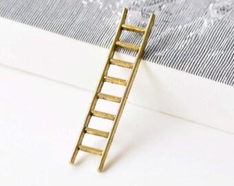 10 pcs of Antique Gold Ladder Pendant Charms 10x51mm A8606
