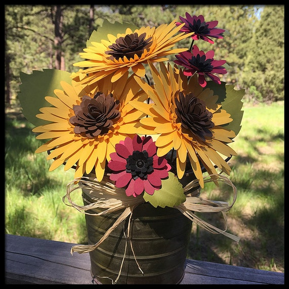 how to make a paper sunflower bouquet