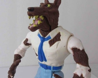 Ghostbusters Wolfman Monster Action Figure Toy Kenner 1986 (Shows Wear)