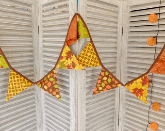SALE Beautiful Autumn/Fall Leaf Acorn Thanksgiving Bunting, Banner, Decoration