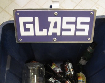 GLASS Clamp On Recycling Sign