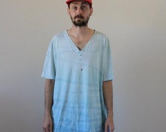 Tie Dye Distressed Tee Mens XL