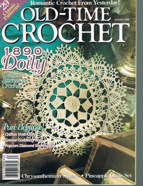 Autumn 1996 Old Time Crochet Magazine Doily Crochet Patterns