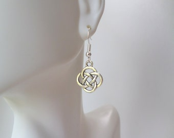 Celtic Knot Earrings Sterling Silver Celtic Earring Love Knot Earrings Bridesmaid Gift Irish Ireland Earrings Handmade Sterling Jewelry