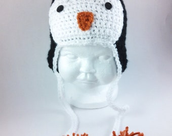 Penguin Beanie - Infant to Child Sizes