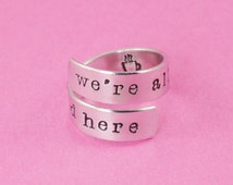 We're All Mad Here Wrap Ring - Alice in Wonderland