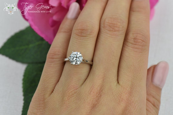 2 carat wedding ring 2 ct classic solitaire engagement ring low by tigergemstones 1044